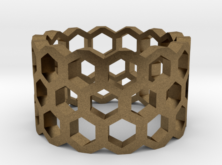 Honeycomb Ring Size 9 3d printed