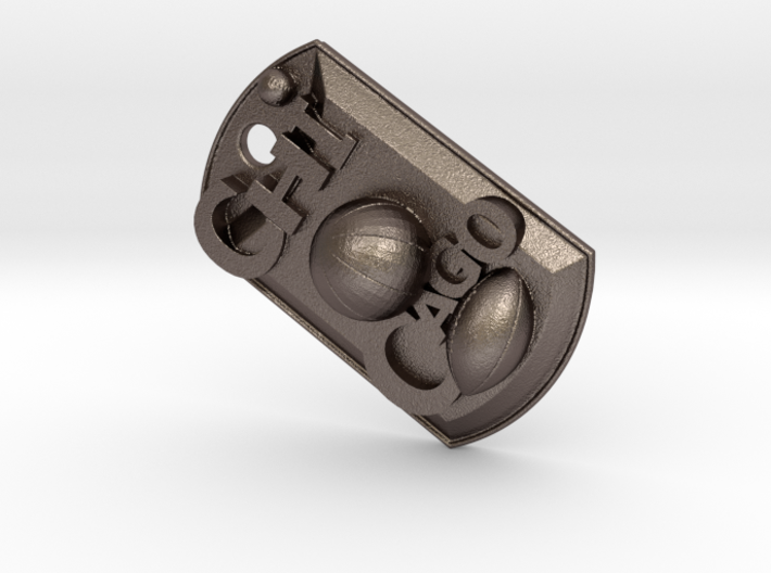 Chicago Sports Dog Tag 3d printed