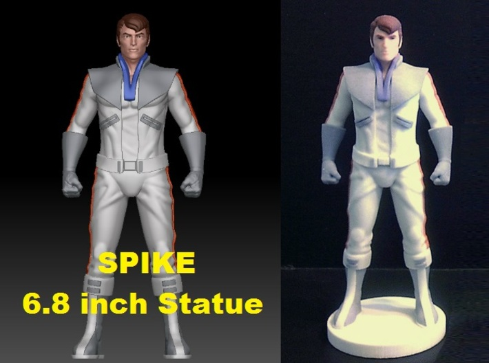 Spike homage Space Man 6.8inch Full Color Statue 3d printed Spike 6.8 inch statue printed in Full Color Sandstone