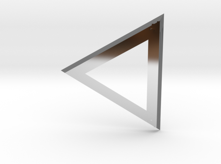 Triangle 'Trinity' pendant #Silver 3d printed