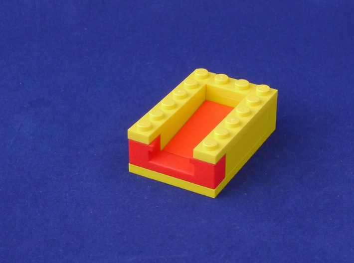 Marble Run Bricks: Sloped Tiles Set 3d printed example build with Gate Brick