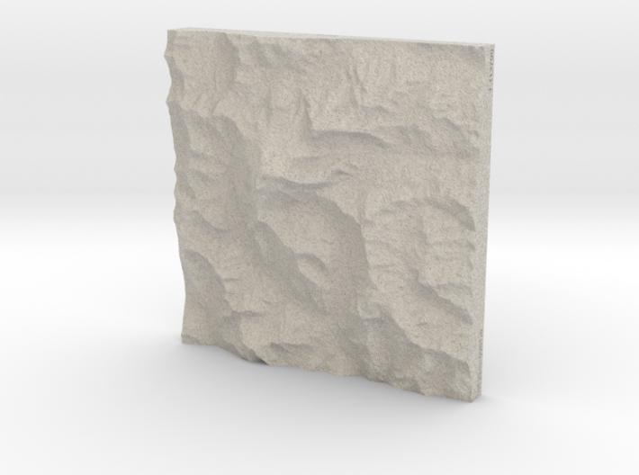 8''/20cm Aconcagua, Argentina, Sandstone 3d printed