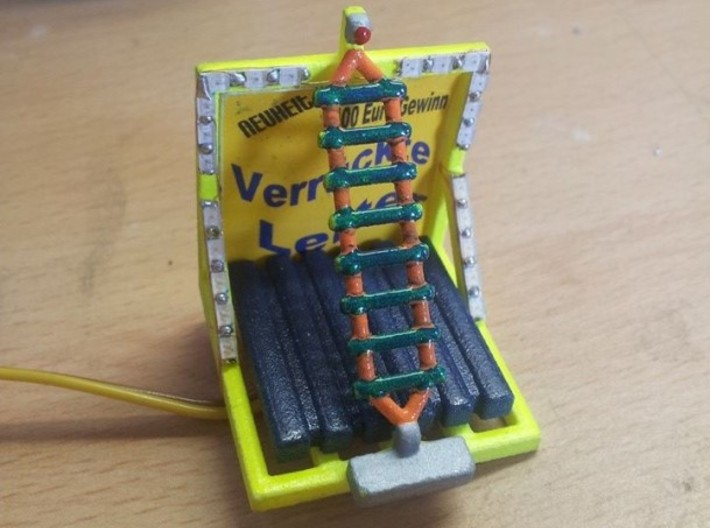 Leiterspiel 1:87 (H0 scale) 3d printed model build by Kirmes Frank - Thank you