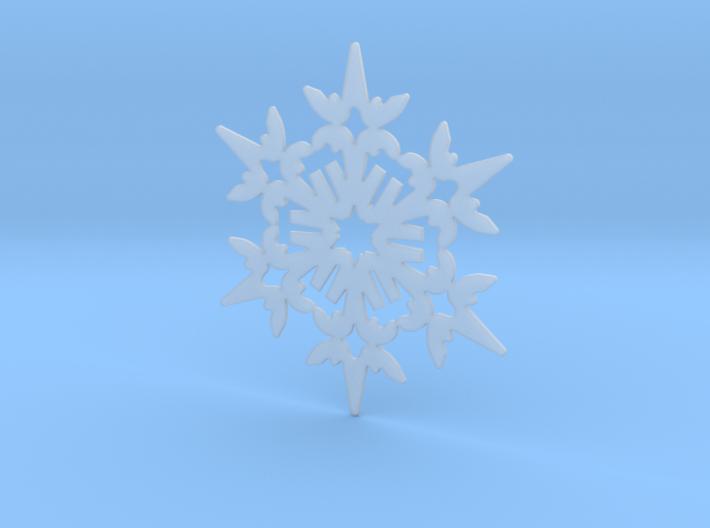 Wings Snowflake - Flat 3d printed