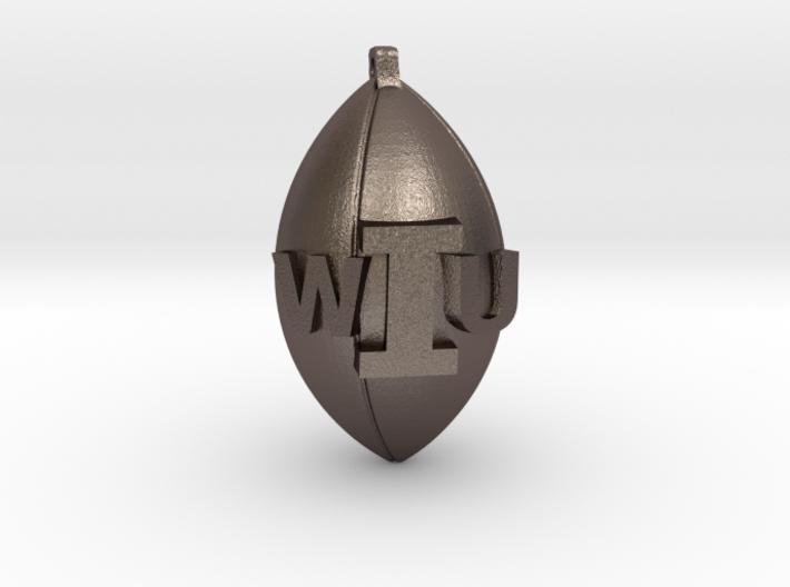 WIU Football Charm 3d printed