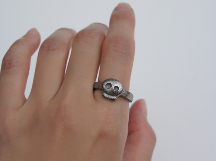 Simply Skull Ring - Size 8 3d printed