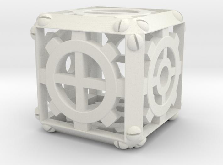 Steampunk Fudge d6 3d printed