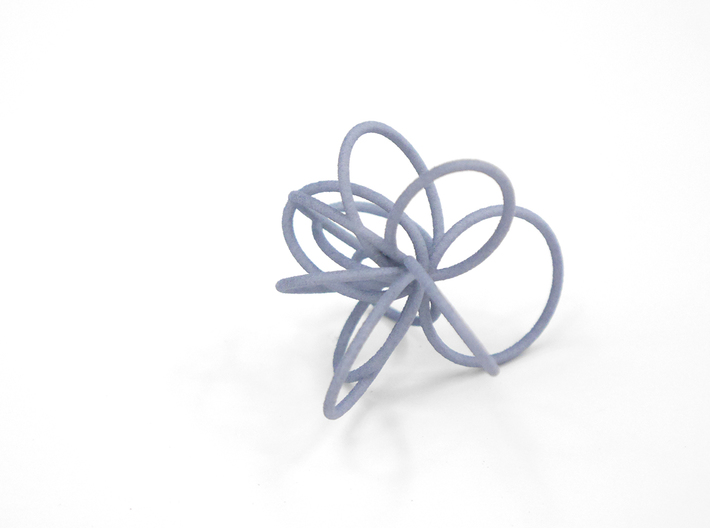 Flora Ring B (Size 7) 3d printed Azurite Nylon (Custom Dyed Color)