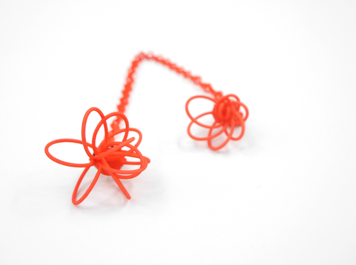 Flora Collar Tips 3d printed Coral Nylon (Custom Dyed Color)