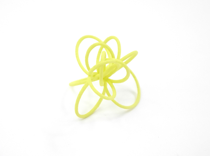 Flora Ring B (Size 9) 3d printed Key Lime Nylon (Custom Dyed Color)
