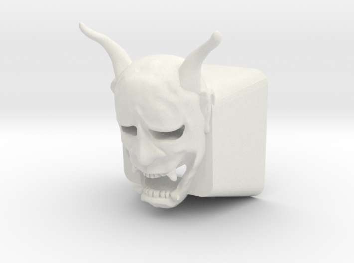 Cherry MX Hannya Keycap (with cutouts for LEDs) 3d printed