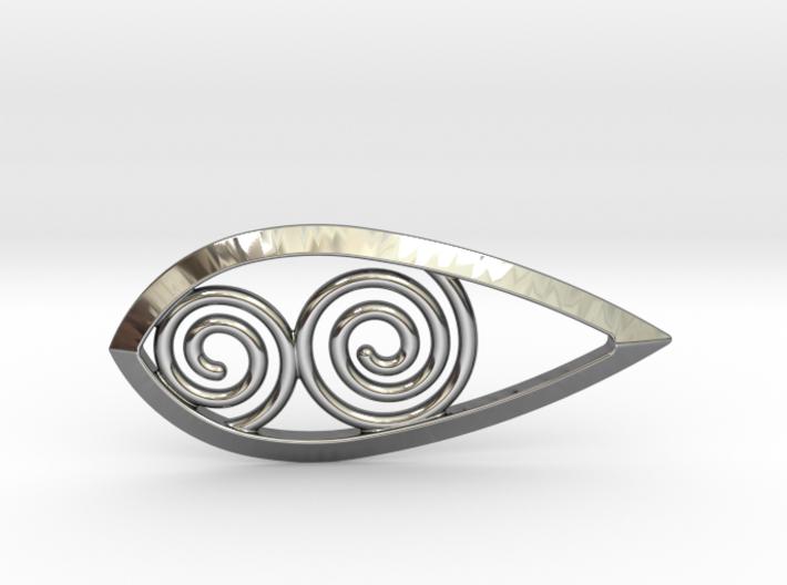 Tear Spiral Pendant 3d printed