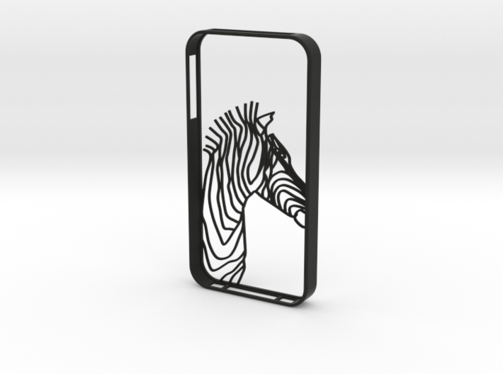 Zebra Head Case Iphone4s 3d printed