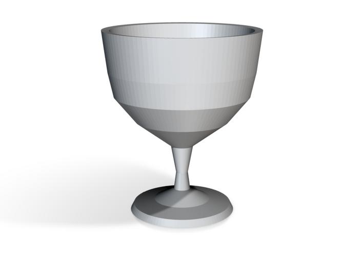 "Ceramic wine goblet - 5"" (12.5cm) tall 3d printed"