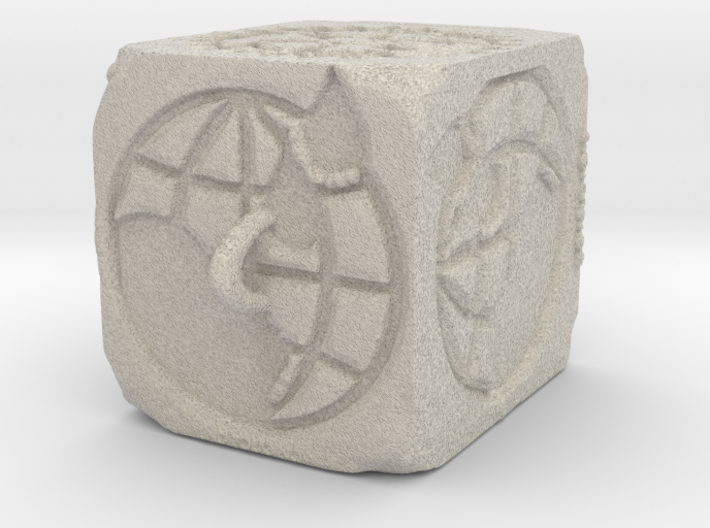 Sandstone ROTARY Ornament 2014 (Thicker) 3d printed