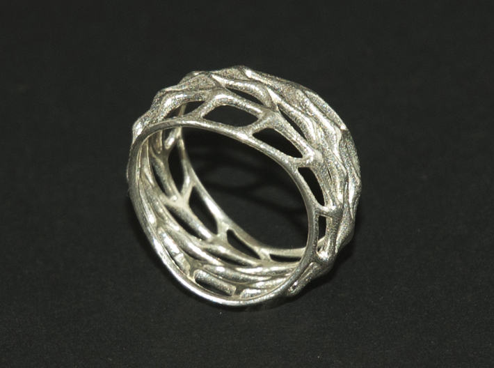 Panel Twist Hollow Ring (Sz 7) 3d printed