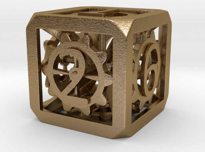 Dice with Gears 39,6mm 3d printed