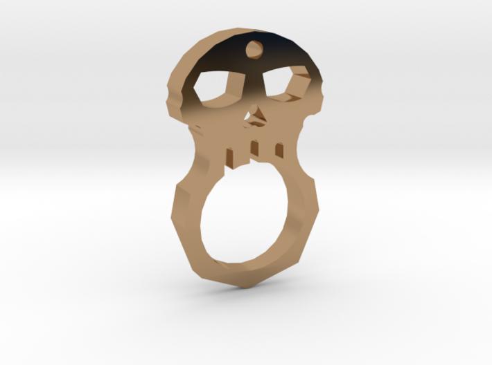 Gasping Skull Pendant, intermediate thickness, 7/8 3d printed