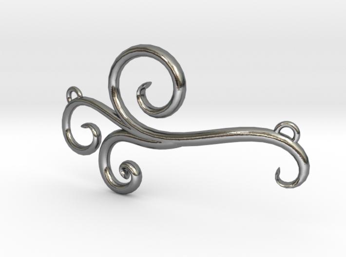 Wind Curls Pendant 3d printed