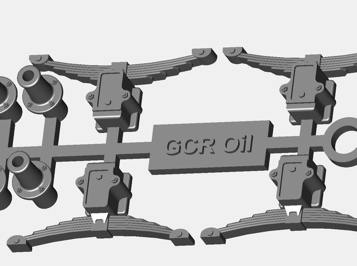 GCR Oil axlebox,springs and buffers 3d printed