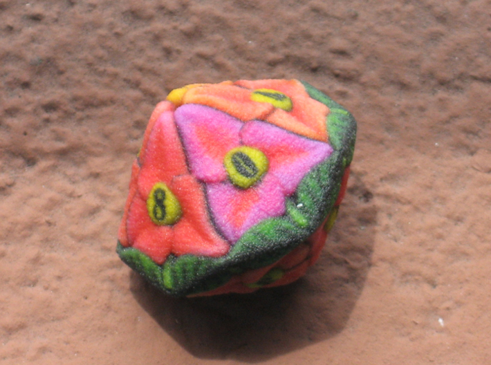 Flower Dice (Small) 3d printed D10
