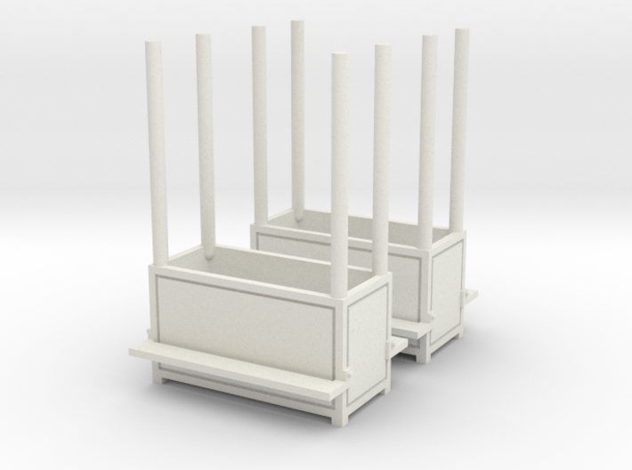 2 Carnival benches (planter) - 1:87 (H0 scale) 3d printed