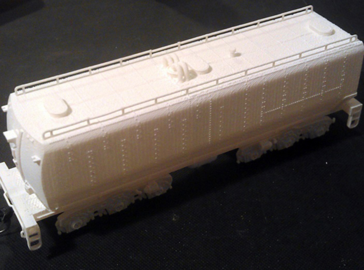 UP Water Tender HO Scale 1:87 Chassis & Parts 3d printed FUD tender on Chassis - Not Incuded