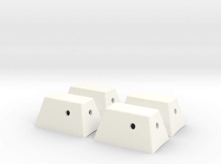 Apollo SM RCS Housings 1:32 3d printed