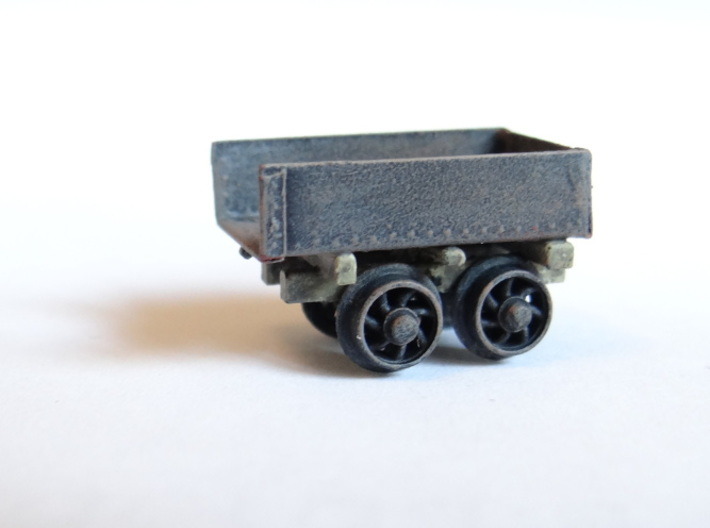 Rhosydd Quarry Rubbish Truck (Underframe x3) 3d printed A Completed Wagon