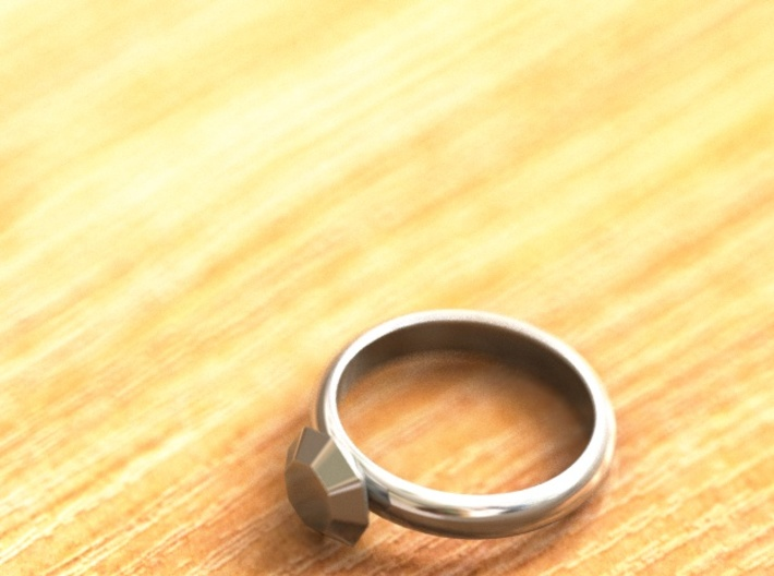 Cristall Ring4 6 size 3d printed