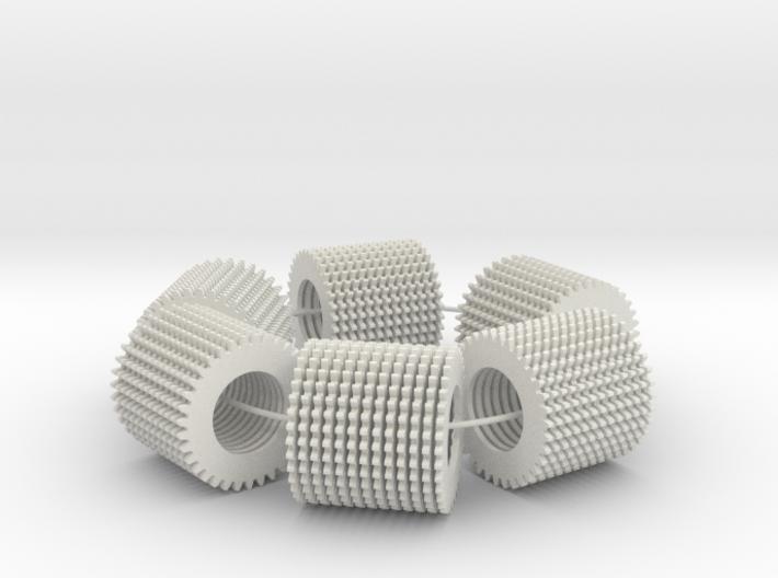 loop test (78 parts on a loop) 3d printed