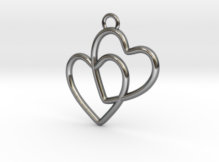 Two Hearts Connected 3d printed