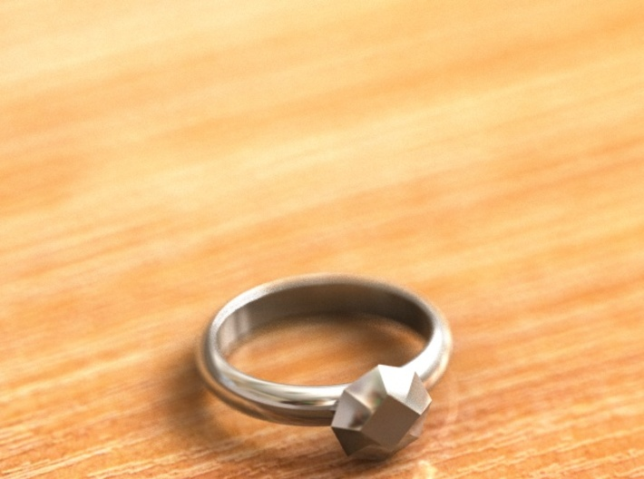 Cristall Ring5 6 size 3d printed