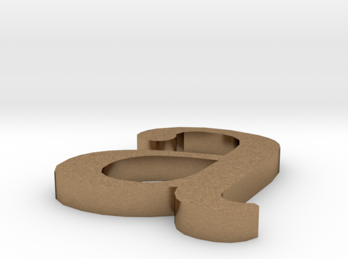 Letter- a 3d printed