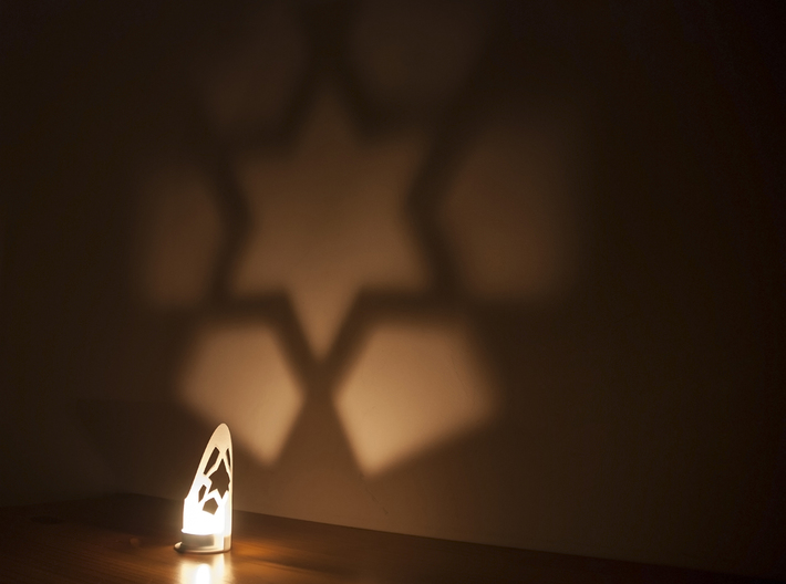 Star wall projection 3d printed Star projection
