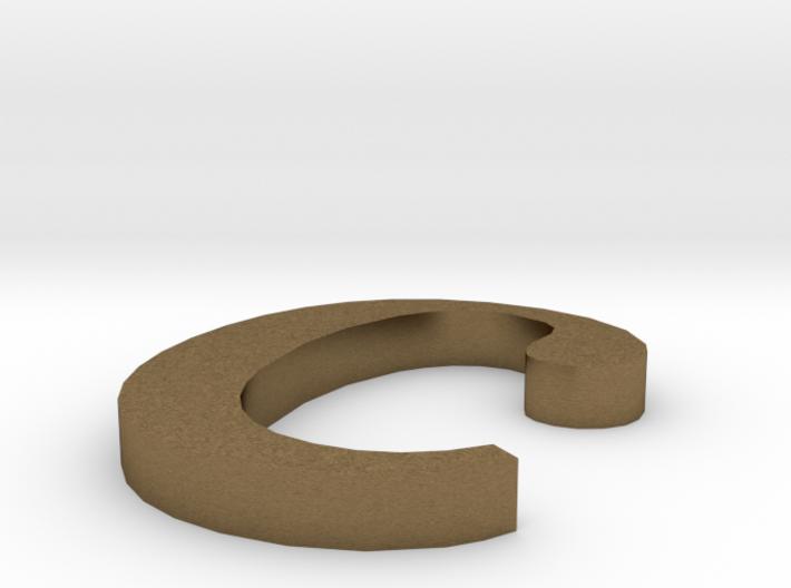 Letter- c 3d printed