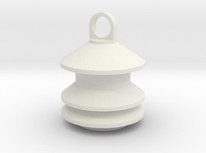 Model 2 Siren Keychain 3d printed