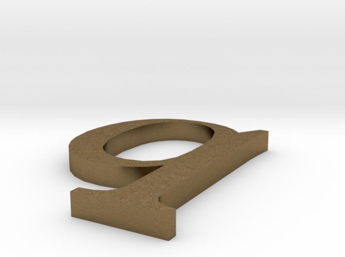 Letter- q 3d printed