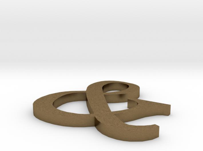 & Symbol 3d printed