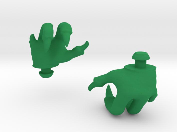 Reptile Hands 3d printed