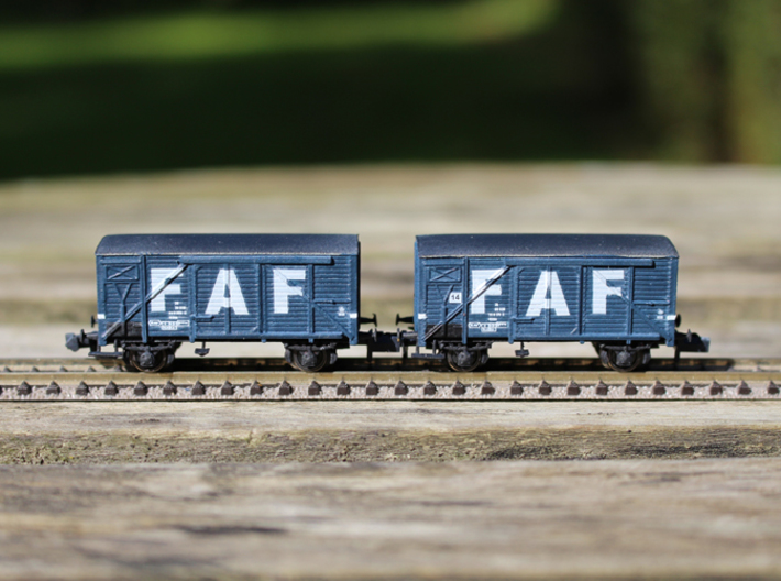 HJ Vogn in N scale (TOP Parts 1-2) 3d printed