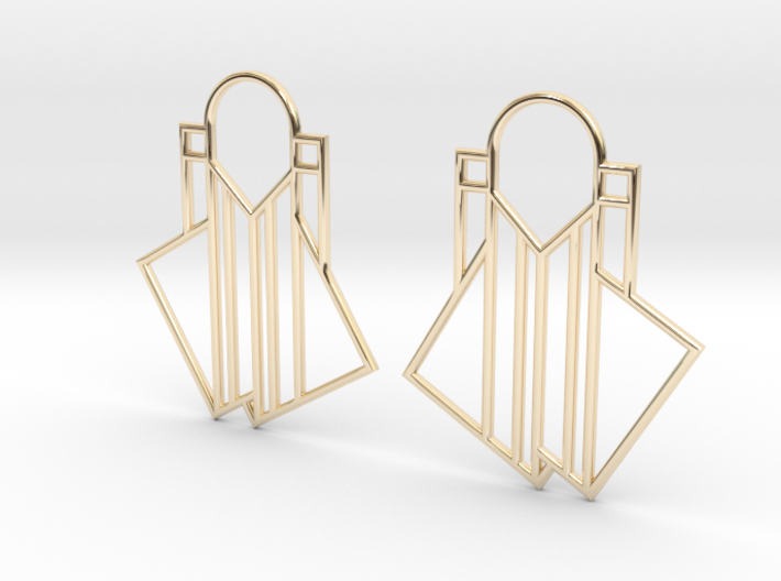 A Little Off-Center Earrings 3d printed