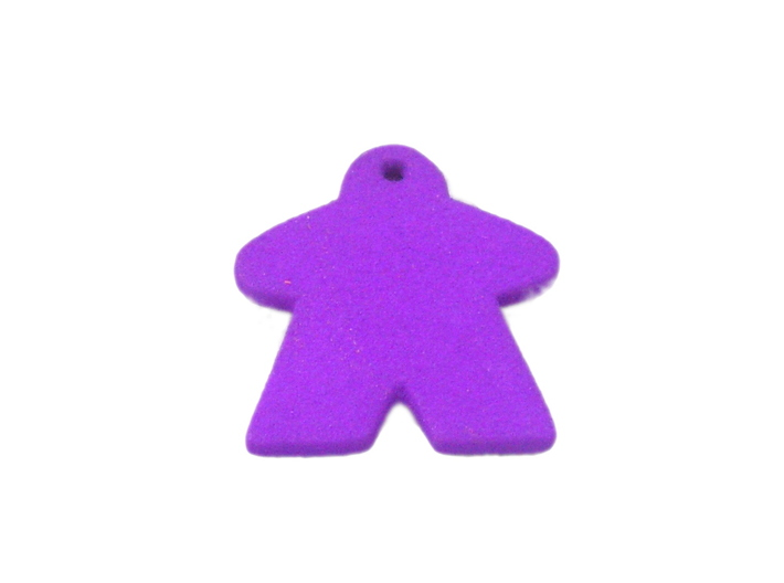 Meeple Keychain 3d printed Photo made with Purple Strong & Flexible