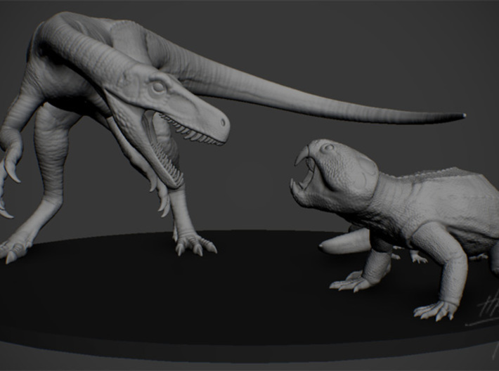 Triassic dinosaurs pack 1/12 3d printed