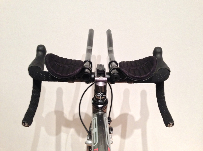 Bar end - Flat/Rear (for 22.2mm handlebar extensio 3d printed Zipp Vuka Clip clip-on time trail bars with 22.2mm extensions