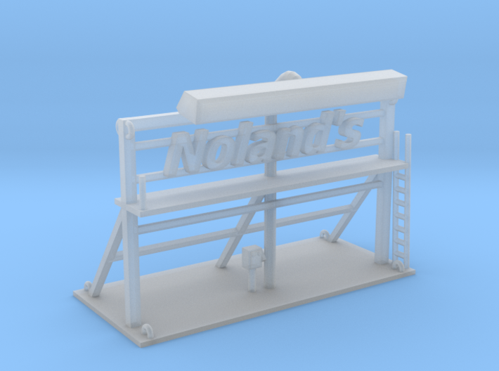 Nolands Roof Top Sign Z Scale 3d printed