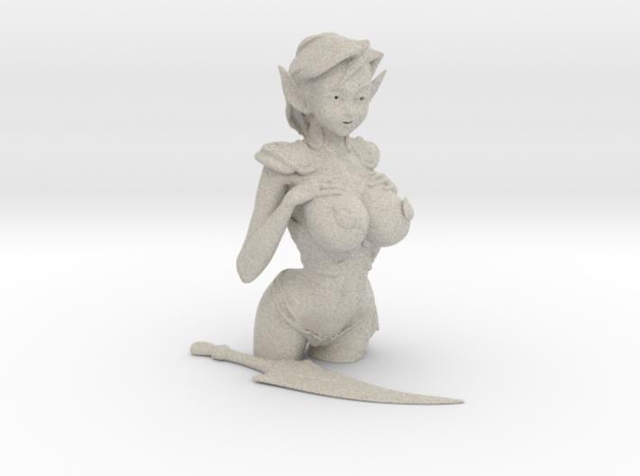 "3.5"" Fantasy Elf in Armor 3d printed"