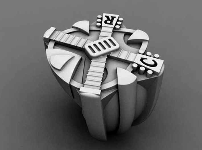 Crossroads Ring - Size 11 (20.68 mm) 3d printed