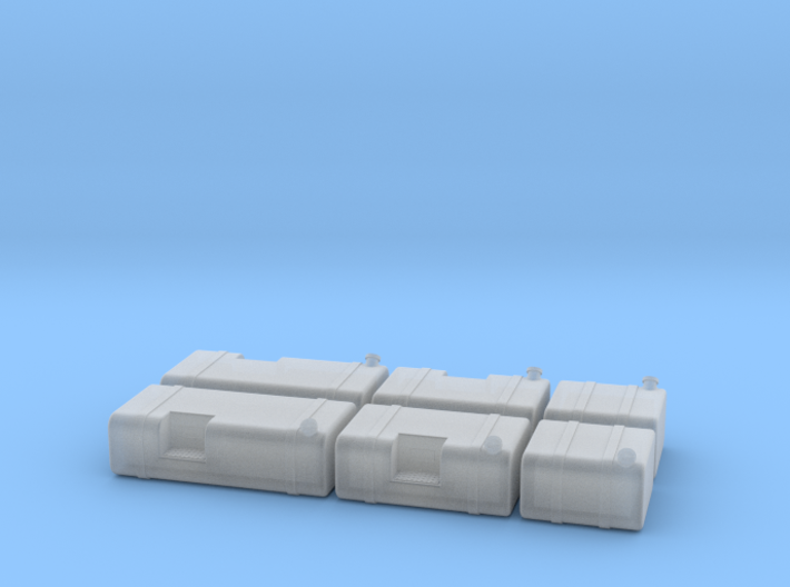 1/87th HO Scale Truck Square Fuel Tank builders pa 3d printed