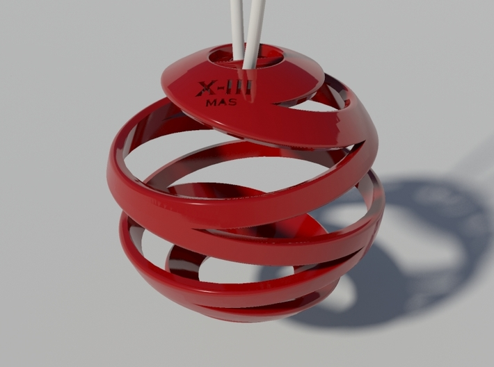 Christmas Ball - Xmas-III 5x5 3d printed